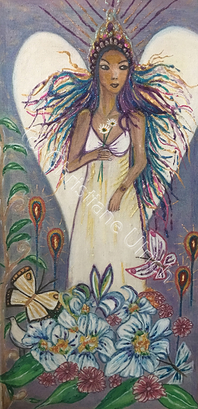 Engelbild auf Leinwand (c) Christiane Ulrich